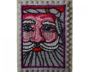 selfadhesive flat embroidery badge